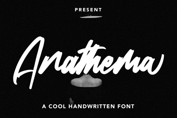 Anathema - Cool Handwritten Font example image 1