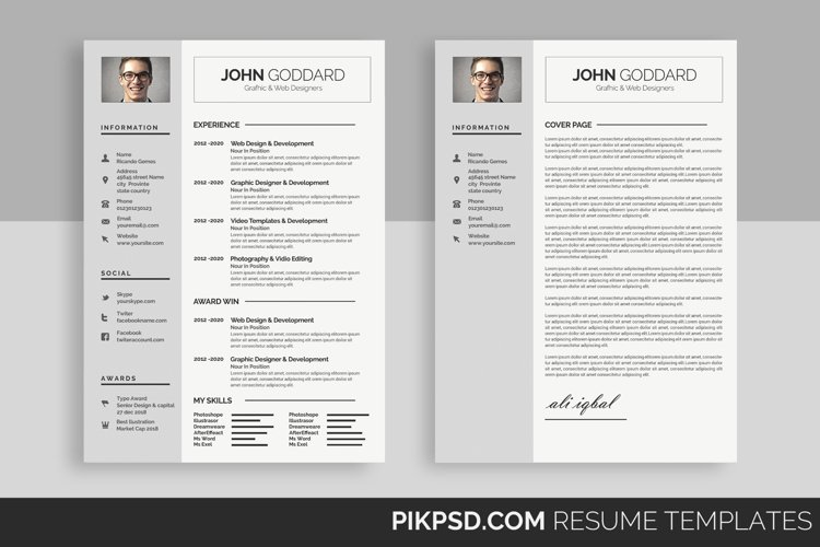 Clean Resume/CV example image 1
