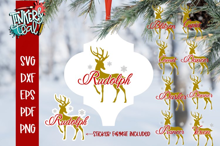 Reindeer Arabesque tile svg - Arabesque SVG - SVG Bundle