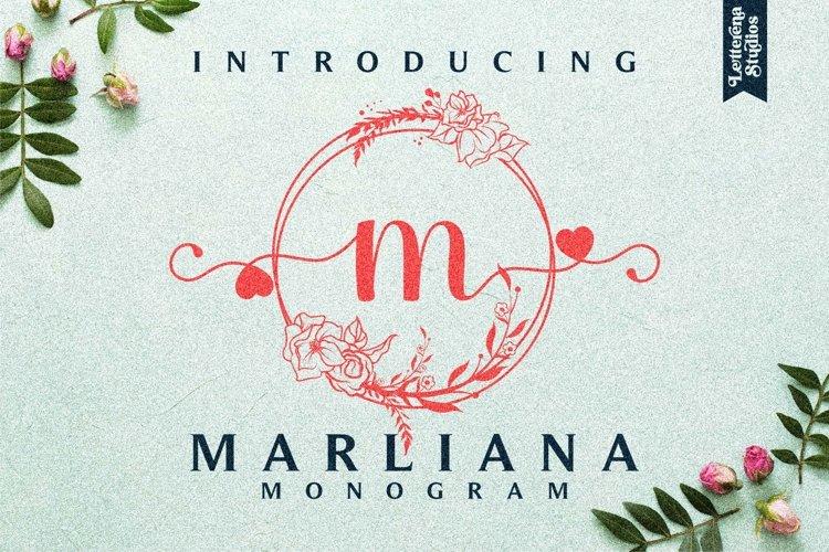 Marliana Floral Monogram Font example image 1