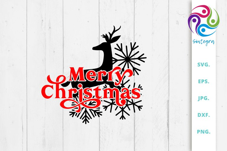 Merry Christmas Deer Svg File example image 1