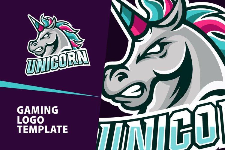 Unicorn Gaming Logo Template example image 1