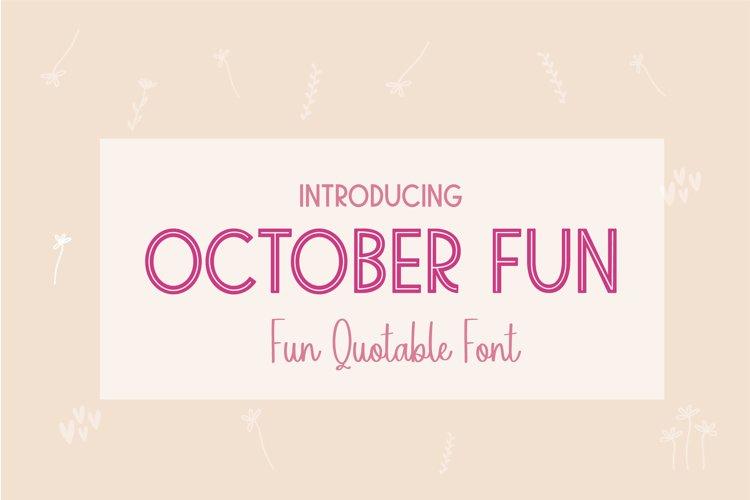 October Fun example image 1