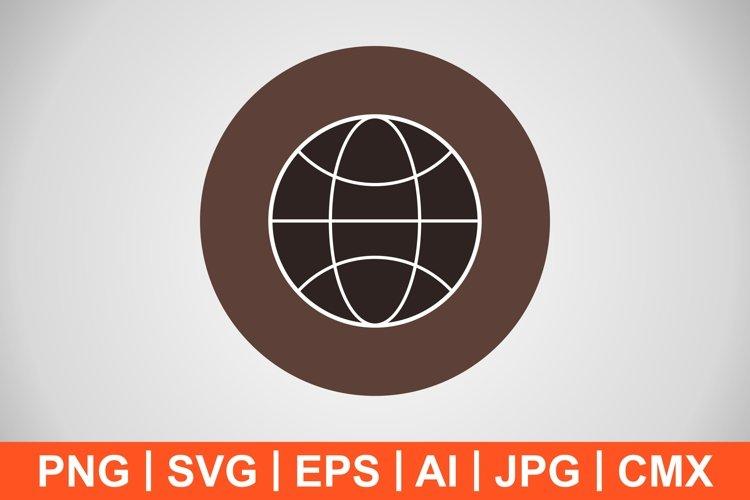 Vector Globe Icon example image 1