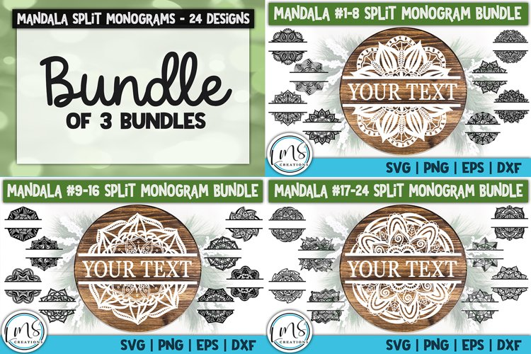 Split Mandala Monogram Bundle Vol#1-3