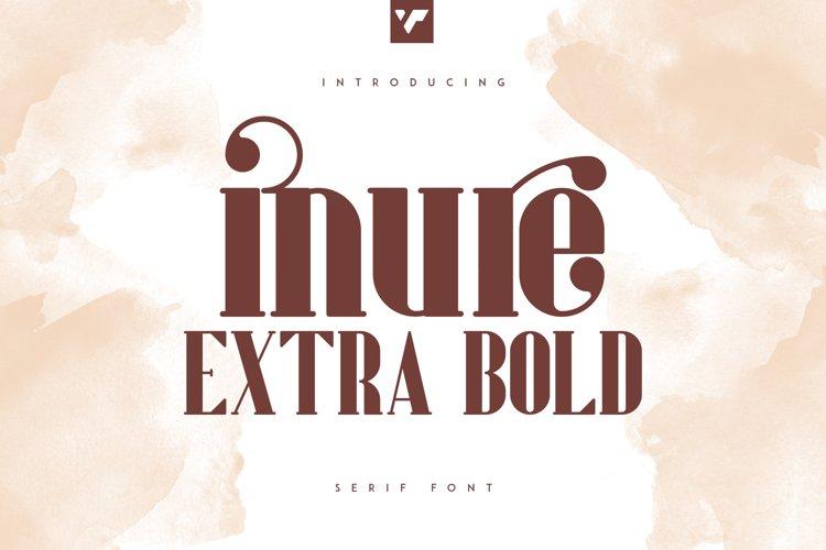 Inure - Serif Extra Bold example image 1