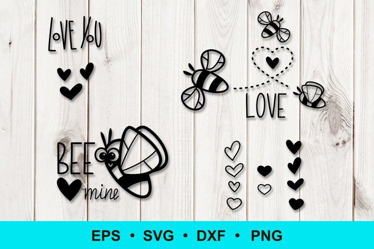 Love designs with bees example image 1