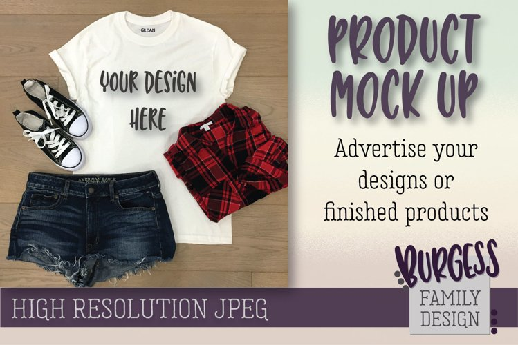 MOCK UP Styled summer plaid | High Resolution JPEG example