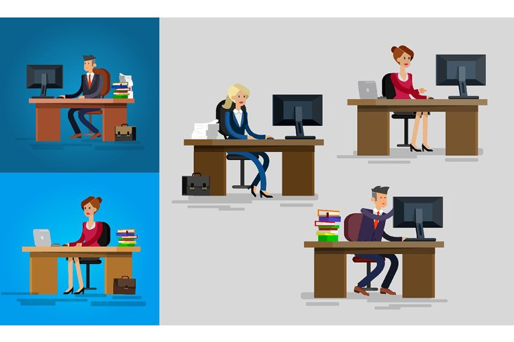 Office workers characters example image 1