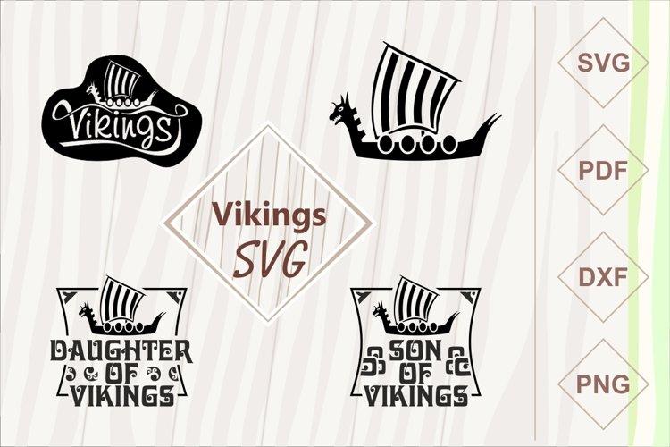 Vikings ship SVG bundle example image 1