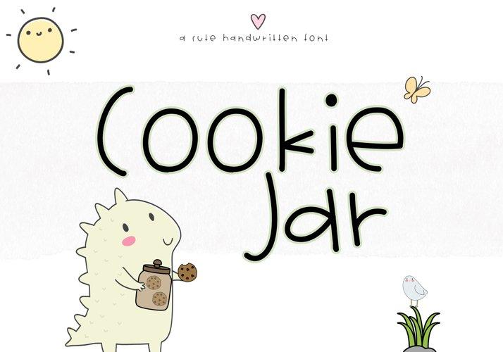 Cookie Jar - A Cute Handwritten Font example image 1
