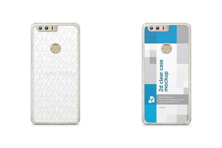 Huawei Honor 8 2d Clear Mobile Case Design Mockup 2016 example image 1