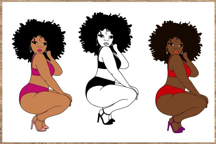 Bundle svg Black woman Nubian Princess black woman example image 1
