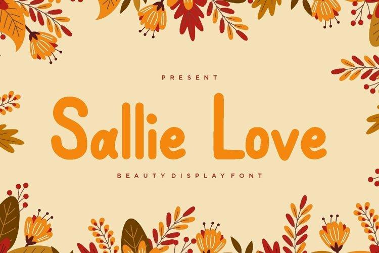 Web Font Sallie Love Display Font example image 1