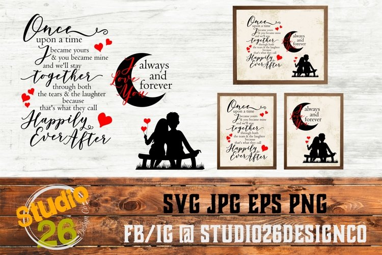 Once upon a time & Moon - SVG PNG EPS