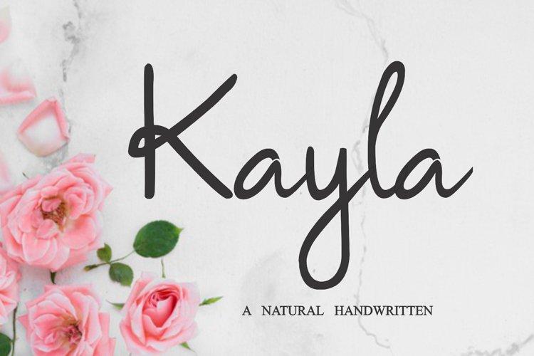 Kayla - Handwritten Font example image 1