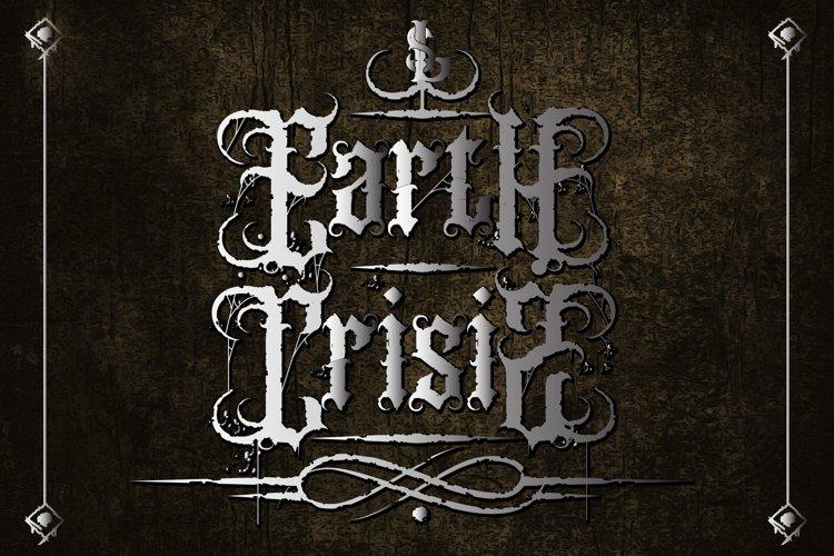 Earth Crisis| Black metal Font example image 1