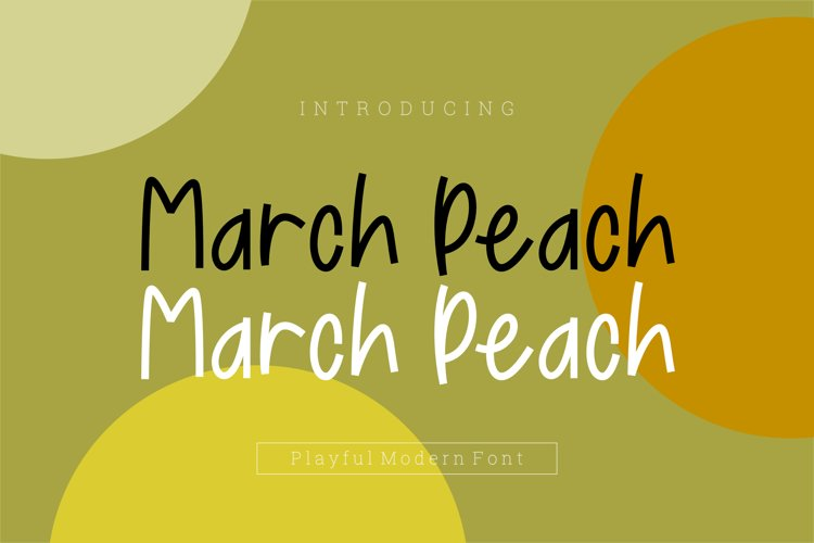 March Peach Playful Font example image 1
