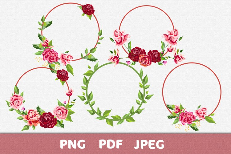 Composition of rose flowers for text, invitations