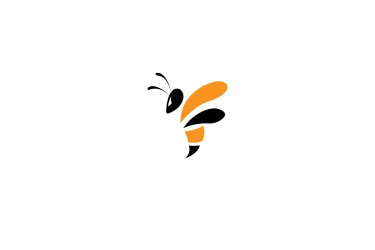 bee insect logo vector illustration example image 1
