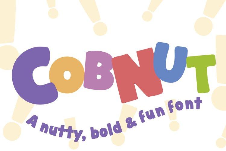 Cobnut - a nutty, bold and fun font