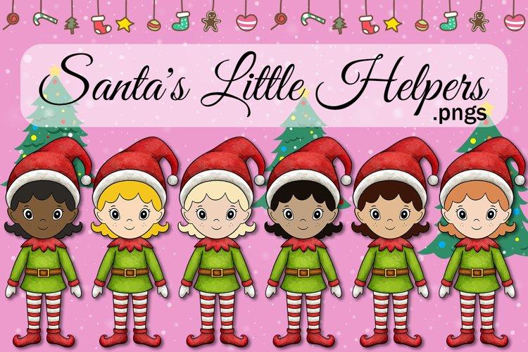 Santas Little Helpers Diversity Girl Elf Christmas Elves