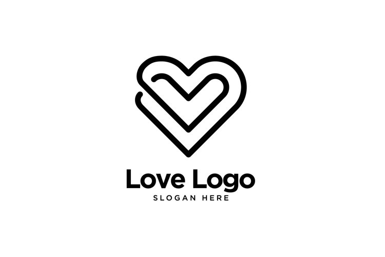 Double Love Logo example image 1