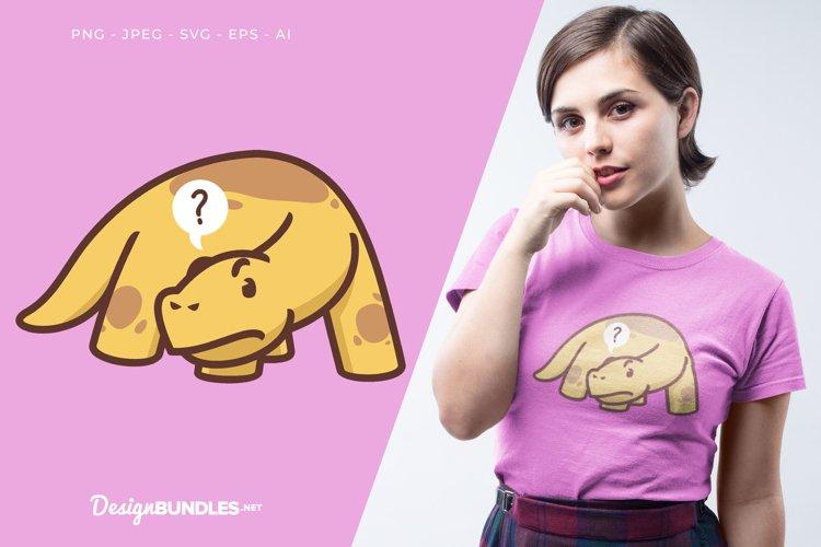 Confused Dinosaur Vector Illustration For T-Shirt Design