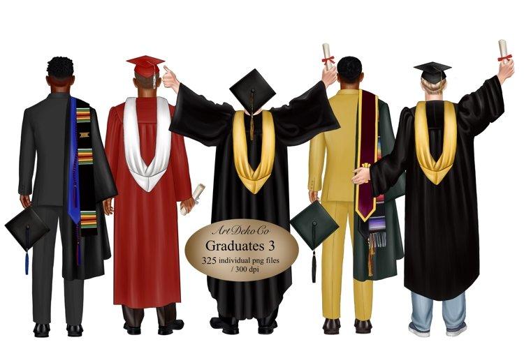Graduation clipart for boys, clipart for high school.