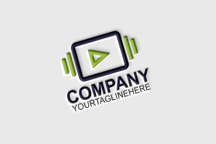 Play Media Logo Template example image 1
