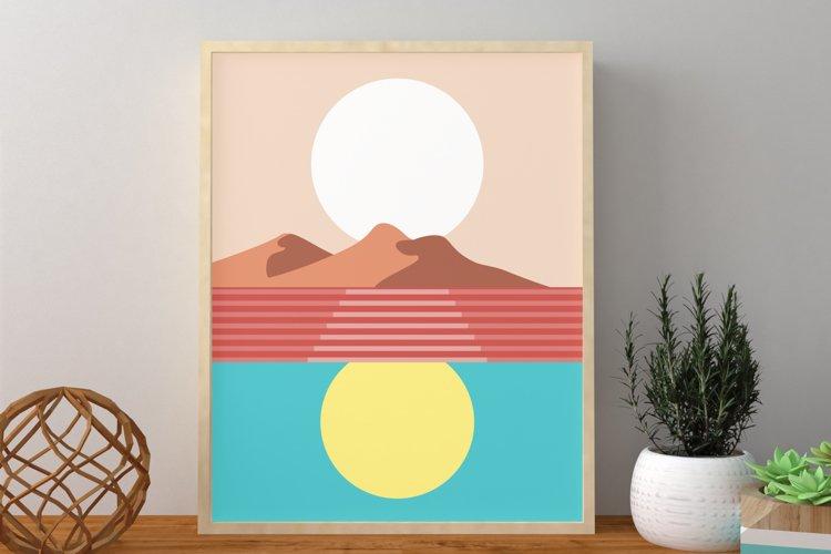 Sunset Wall Art, Sunset Wall Decor, Sun Wall Art