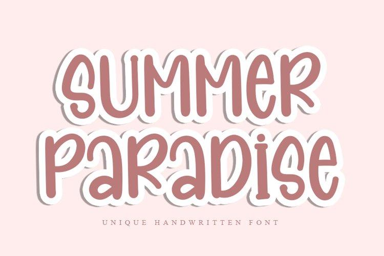 Summer Paradise - Unique Handwritten Font example image 1