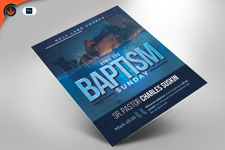 Baptism Sunday Church Flyer Template example image 1