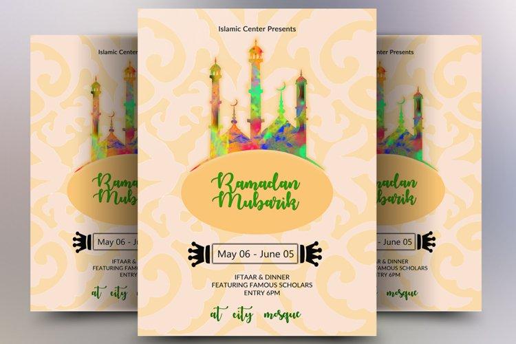 Ramadaan Mubaraak Flyer example image 1