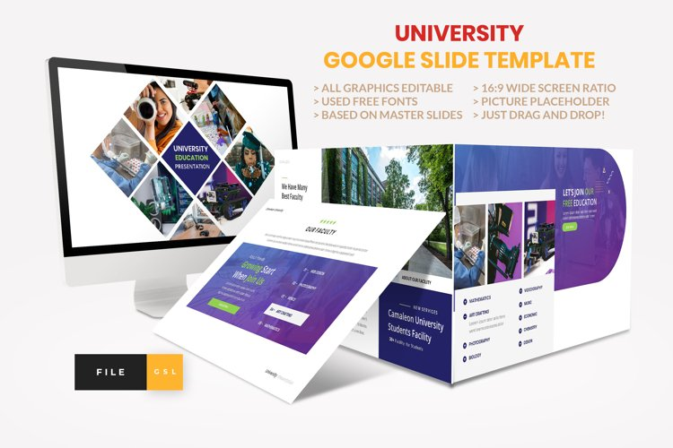 University - Education College Google Slide Template example image 1