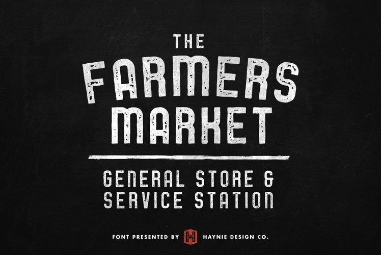Service Station | Vintage Farmers Market Font