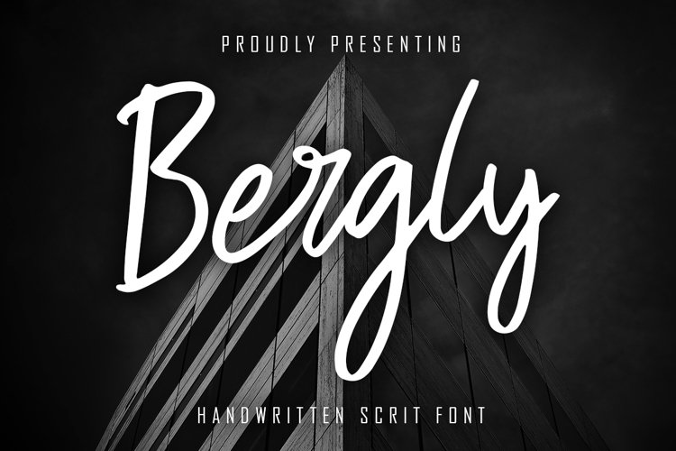Bergly Handwritten Script example image 1