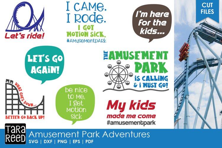 Amusement Park Adventures - Summer SVG and Cut Files