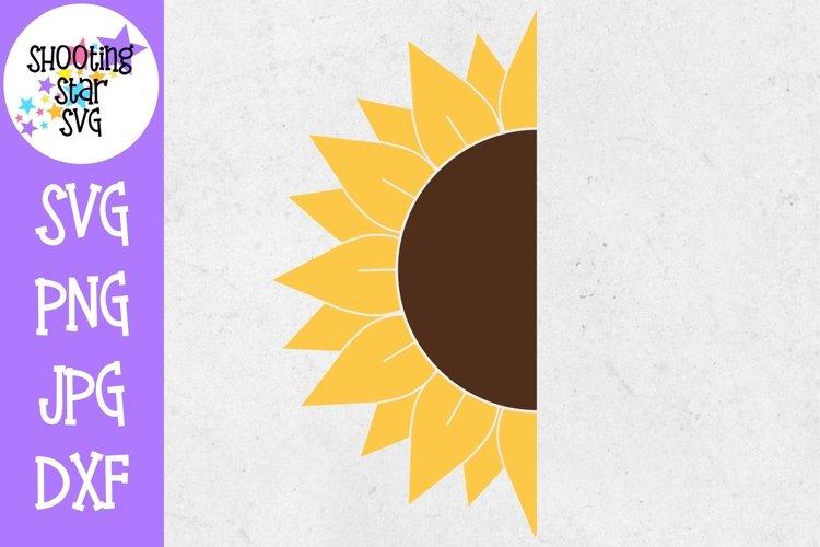 Half Sunflower SVG