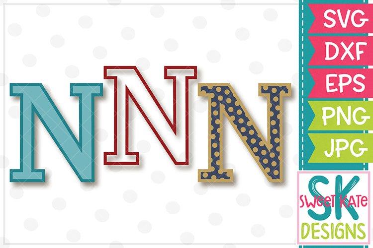 Greek Alphabet Nu SVG DXF EPS PNG JPG example image 1