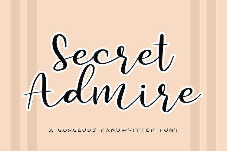 Secret Admire Handwritten Font example image 1
