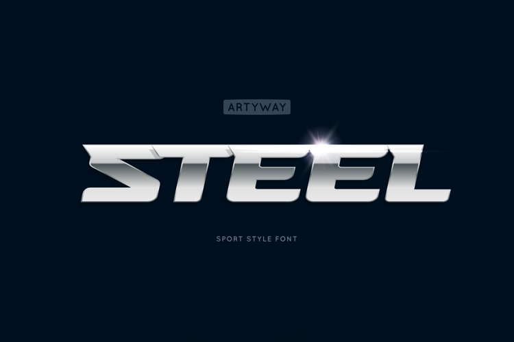 Headline Steel Font example image 1