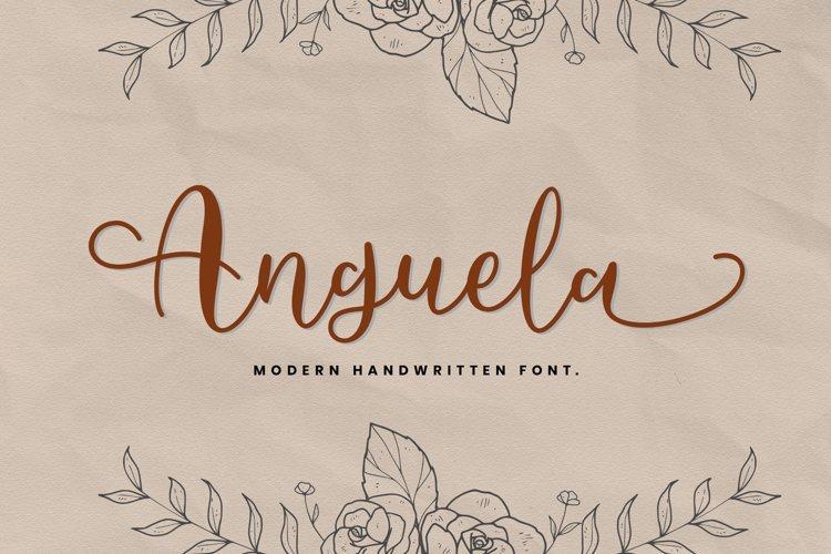 Anguela Script Handwriting example image 1
