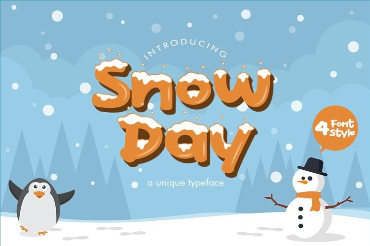 Web Font Snow Day Display example image 1
