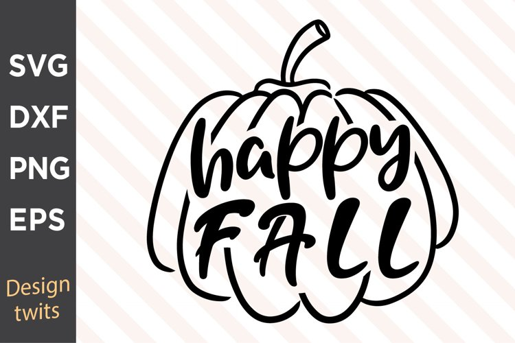 Happy Fall SVG example image 1