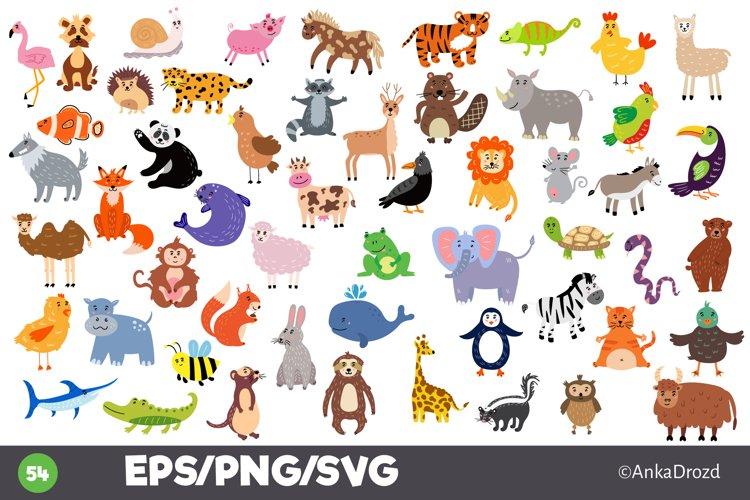 Baby animal clipart big set, Animal nursery prints svg