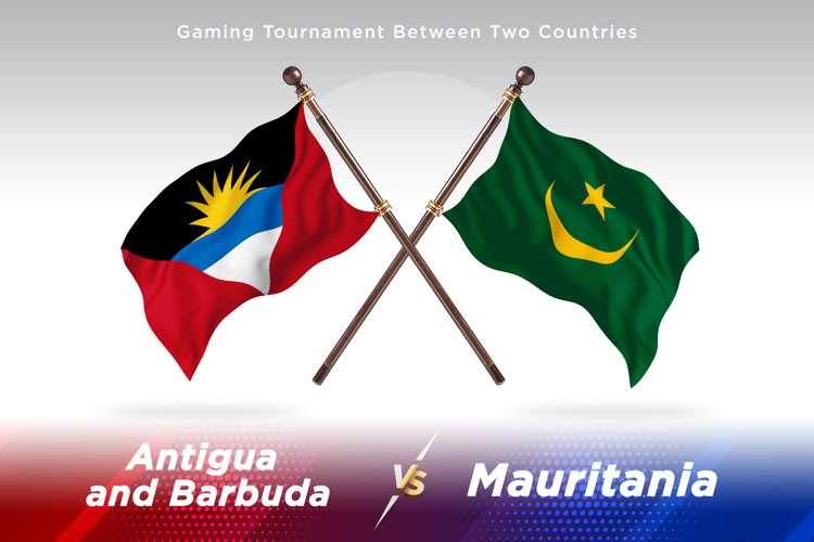 Antigua vs Mauritania Two Flags example image 1
