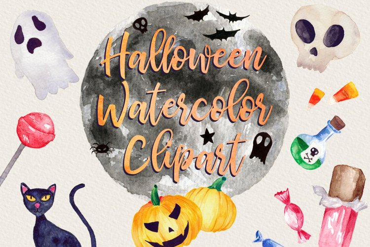 Halloween Watercolor Clip Art Pack! With SVG/Vector Versions example image 1
