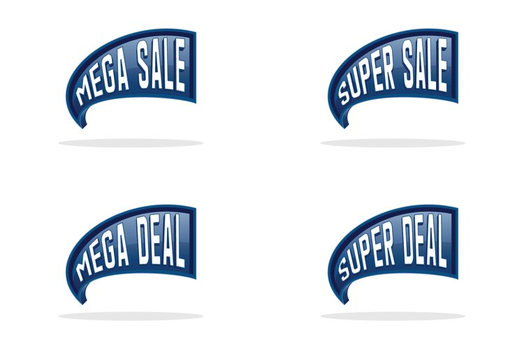 Collection of sales label design example image 1