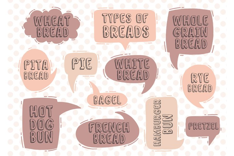 Set text types of breads example image 1